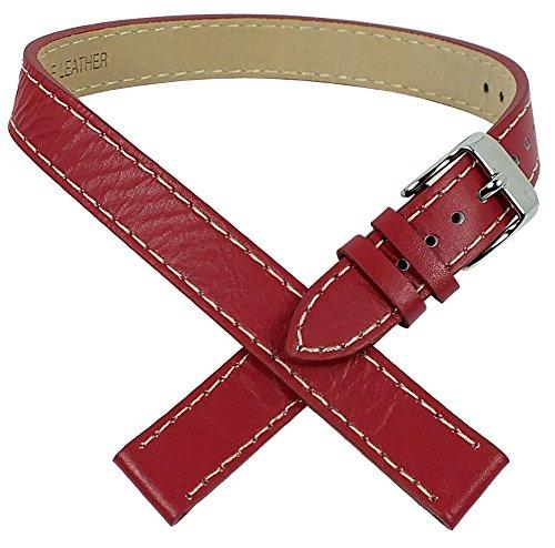 Uhrenarmband Wickel-Uhrenarmband von Tom Tailor für Modell 5406702 14mm Leder rot