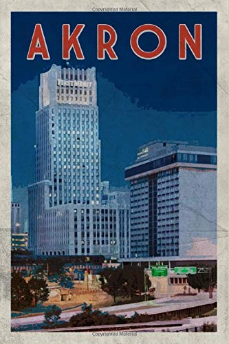 Akron: Notebook Journal Diary Planner - Ohio USA