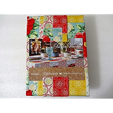 The Pioneer Woman Patchwork Fabric Tablecloth 60  x 84