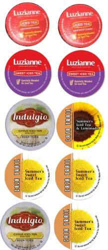 10 Cup ICED TEA Single Serve Cup Sampler- Iced Teas to Cool you down!