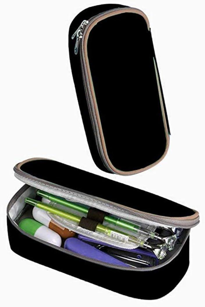 Pencil Case Lil Love-Peep Large Capacity Student Pencil Case Portable Pouch Pen Case Multifunction Canvas Pencil Case with Double Zipper Storage Organizer for Kids Tteens