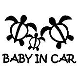 nc-smile ハワイアン BABY IN CAR ステッカー ホヌ (ブラック)