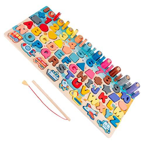 TOYANDONA Montessori Form Sortierer Stapler Holz Stapelspielzeug Geometrische Formen Spielzeug Peg Puzzles Brett Blockiert Baby Farbe Stapel Und Sortierspielzeug für Kleinkinder Angelspiel