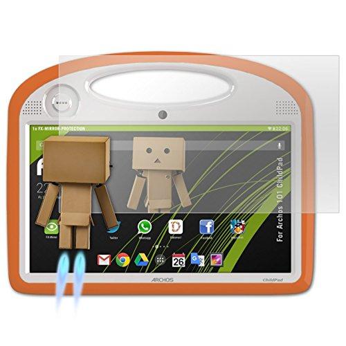 atFolix Bildschirmfolie kompatibel mit Archos 101 ChildPad Spiegelfolie, Spiegeleffekt FX Schutzfolie