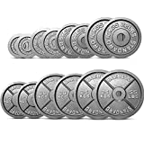 EXTREME FITNESS Olympic Weight Plates Disc Cast Iron 2' Discs Barbell Bar Gym Sets (2 x 15kg)
