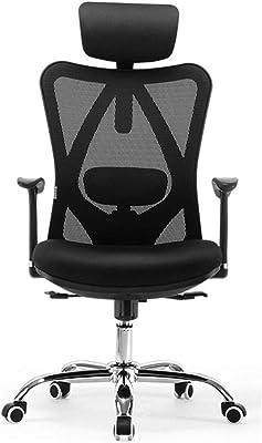 MMAXZ Ergonomic Office Chair, Computer Chair Desk Chair High Back Chair Breathable, Skin-Friendly Mesh Chair,Black