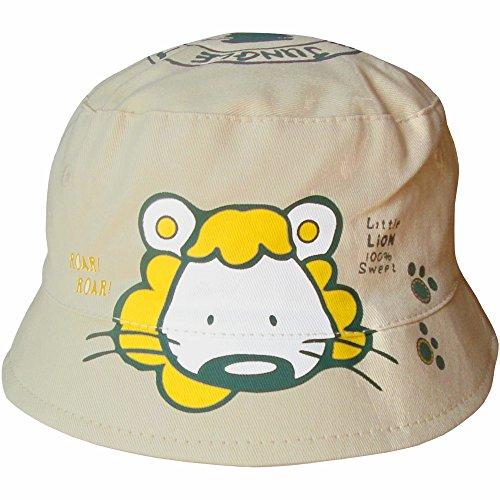 Sombrero para bebés unisex, estilo safari, con estampado de un león Beige crema 6-12 Meses (48 cm)