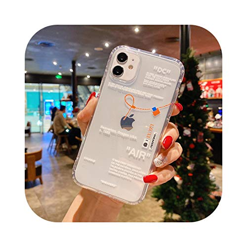 Hot Off Sports zapatos marca teléfono caso para iphone 12 mini 11 X XS Max XR 7 8 6 s Plus SNEAKERS ins etiqueta blanca suave TPU cubierta - 3-para iPhone 8Plus