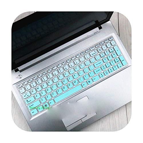 Hopereo Silicone Keyboard Protector Cover Skin for Lenovo G580 G570 G575 G585 G510 G505 G500 G501 G700 B580 B570 B575 B575E B590 M5400-Gradualskyblue-
