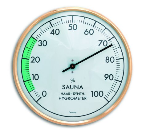 TFA Dostmann Analoges Sauna-Hygrometer, Luftfeuchtigkeit, hitzebeständig, ideal für die Sauna