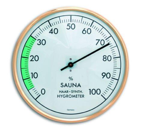 TFA Dostmann analoge sauna-hygrometer, luchtvochtigheid, hittebestendig, ideaal voor de sauna