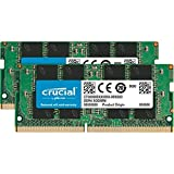 Crucial 16GB Kit (8GBx2) DDR4 2400 MT/s (PC4-19200) DR x8 SODIMM 260-Pin Memory - CT2K8G4SFD824A