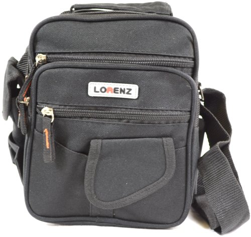 Handy Canvas Style Multi-Purpose Shoulder Bag / Cross Body Bag / Travel Bag ( Black )