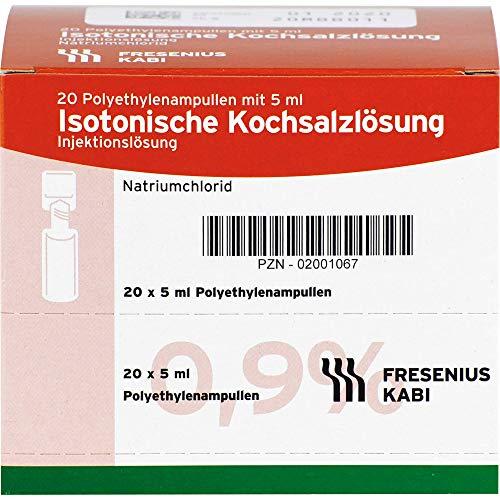 Isotonische Kochsalzlösung NaCl 0,9% Plastikampullen, 100 ml Lösung