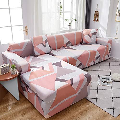 WXQY Funda de sofá geométrica para salón, Funda de sofá Flexible, Funda de sofá con Funda de sofá de Esquina en Forma de L A2 1 Plaza