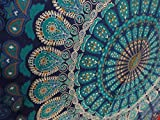 Multi-Colored Mandala Tapestry Indian Wall Hanging, Bedsheet, Coverlet Picnic Beach Sheet, Hippie...
