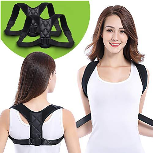 Corrector de postura para hombres y mujeres, enderezador de espalda superior con soporte de clavícula transpirable ajustable, eficaz para cuello, alivio del dolor de espalda superior y hombros