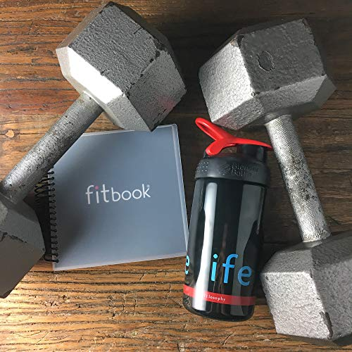 Product Image 10: Fitlosophy Fitbook: Fitness Journal and Planner for Workouts, Weight Loss and Exercise, Black Single (12-Week)