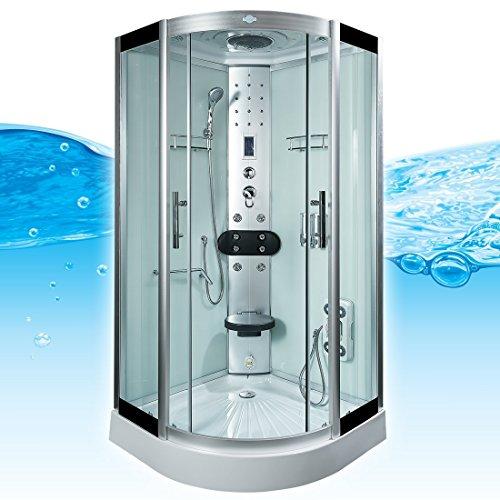 AcquaVapore DTP8058-0003 Dusche Dampfdusche Duschtempel Duschkabine -Th. 80x80, EasyClean Versiegelung:JA mit 2K Scheiben Versiegelung
