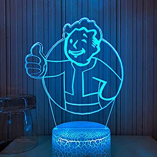 3D LED Night Light Game Fallout & Shelter Logo for Home Decor Bedroom Cartoon Remote Control 16 Color Changing USB Table Lamp