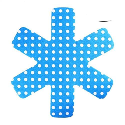 SEOLQX 5 Protectores de ollas y sartenes, Almohadillas divisorias de Primera Calidad con Estampado Gris para Evitar rayones, Separar y Proteger Las Superficies para Utensilios de Cocina, Azul