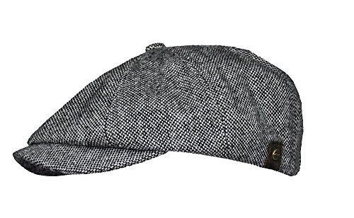 Schiebermütze 8 teilig schwarz grau Tweed Lakota Balke Größe XL 60 cm - 61 cm
