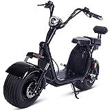 WXX 55-60Km Vehículo De Scooter Eléctrico De Doble Persona, 1000W Antirrobo Adulto Bicicleta Eléctrica Motocross 60V 12AH Batería De Litio Coche Eléctrico