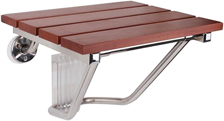 Solid Wood Shower Chair Bathroom Stool Wall seat Wall Chair Bathroom Change shoes Chair Folding Bathroom stools