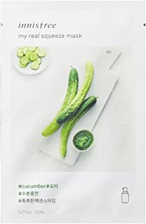 Innisfree Corp My Real Squeeze Cucumber Mask Sheet (10 Pack)