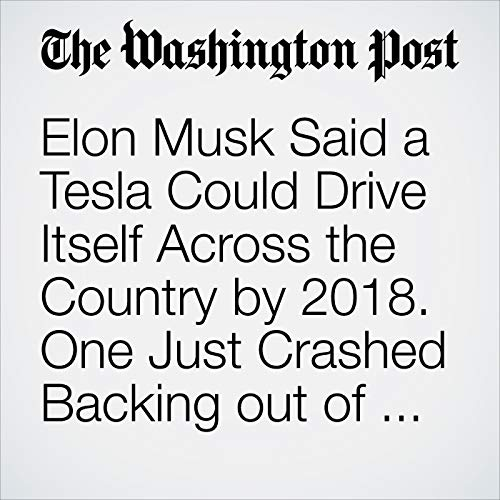 Elon Musk Said a Tesla Could Drive Itself Across the Country by 2018. One Just Crashed Backing out of a Garage. copertina
