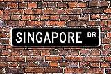 HNNT New Blechschild Post Singapur Schild Singapur