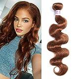 Valentines Day Gifts Aigemei Peruvian Virgin Human Hair Light Auburn Hair Bundles 1 Bundles Body Wave Hair Weaves 8A Human Hair Weft Hair Extensions (20 Inch,Color 30)