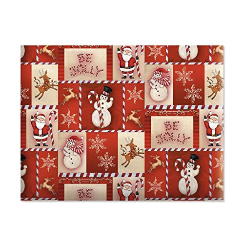 Be Jolly Jumbo Rolled Christmas Gift Wrap - 1 Giant Roll, 23 Inches Wide by 35 feet Long, Heavyweight, Tear-Resistant, Holiday Wrapping Paper