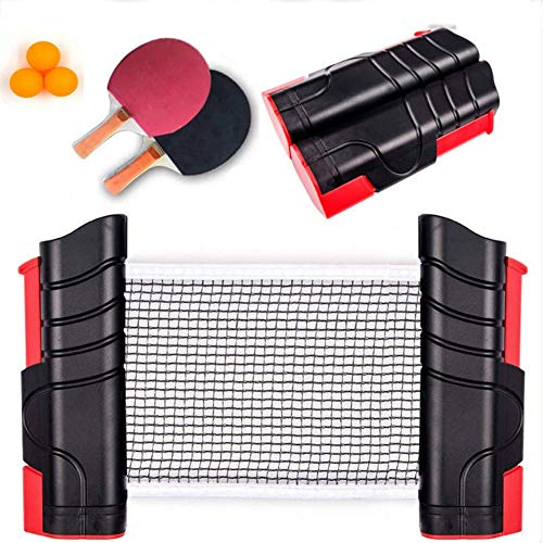 Review Of Zcbm Professional Ping Pong Paddle Set with Retractable Net (Bracket Clamps) Balls Short H...