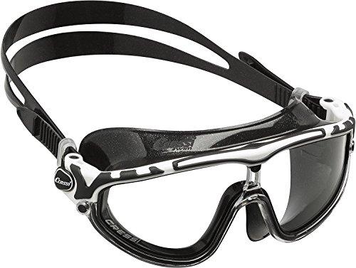 Cressi Skylight Swim Goggles, Occhialini Premium per Nuoto, Piscina, Triathlon e Sport Acquatici Unisex Adulto, Nero/Bianco/Nero