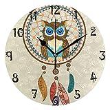 Azalea - Reloj de pared con placa redonda silenciosa para cocina, dormitorio, oficina, escuela, niños, niñas, decoración