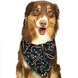 Da Ze Mao Yi Bufanda para Mascotas Bearded Collies Paw Bandana Triangle Bibs Scarfs Accessories for Pet Cats and Puppies