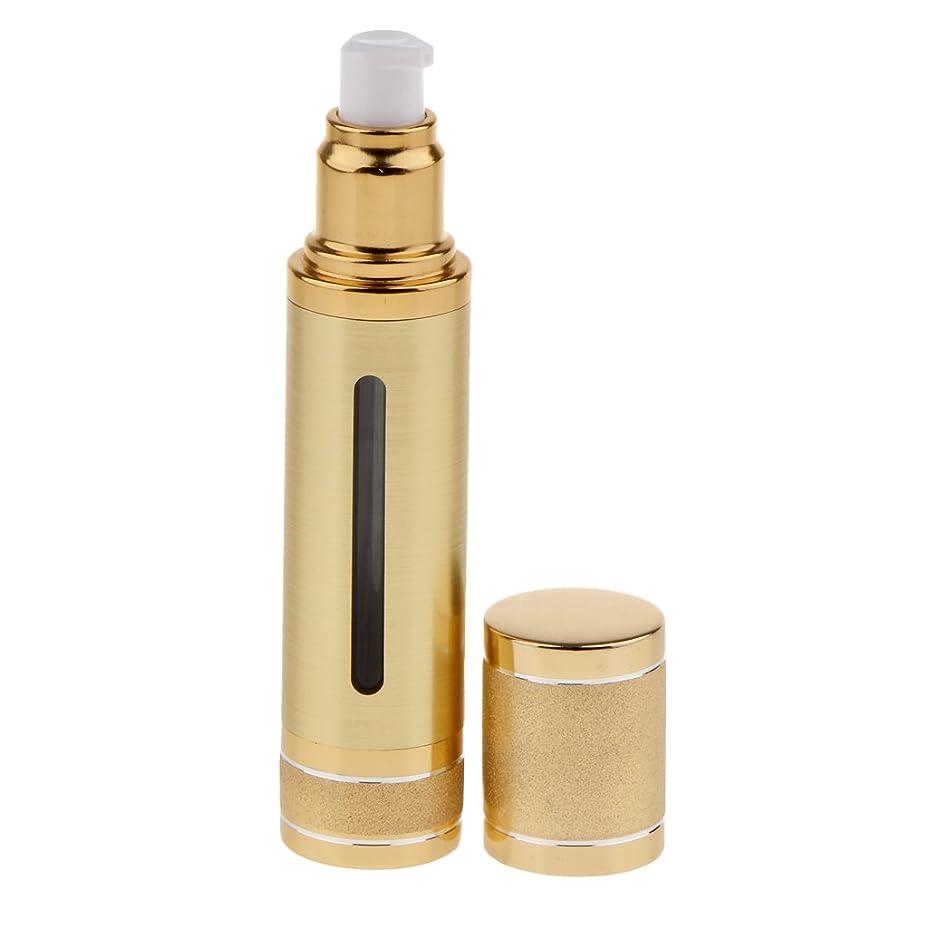 絶対の意気消沈した割り当てエアレスボトル 空ボトル ポンプボトル 化粧品 香水 オイル 詰替え DIY 50ml 2色選べる - ゴールド
