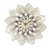 Relojes de Pared Relojes de pared Moderno Hecho a mano Metal Muro Reloj de pared Dormitorio Sala de estar Corredor Decoración Mute Relojes Oficina Aula No Tick Reloj flotante digital alarm clock