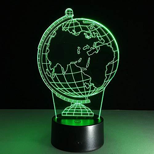 Lámpara de mesa 3D Juguete para niños Regalo ilusión decoración creativa noche tierra globoatmosfera bombillas led USB luz de noche de vacaciones con