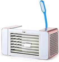 SHSM mini desktop airconditioner ventilator met led licht luchtkoeler draagbare koelventilator voor kantoor thuis outdoor ...
