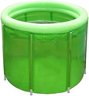 SHYPT Green Portable Bathtub,Soaking Bath Tub for Shower Stall, Flexible Adult Size 100 * 80cm
