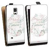 DeinDesign Étui Compatible avec Samsung Galaxy Note 4 Étui à Rabat Étui magnétique Fée...
