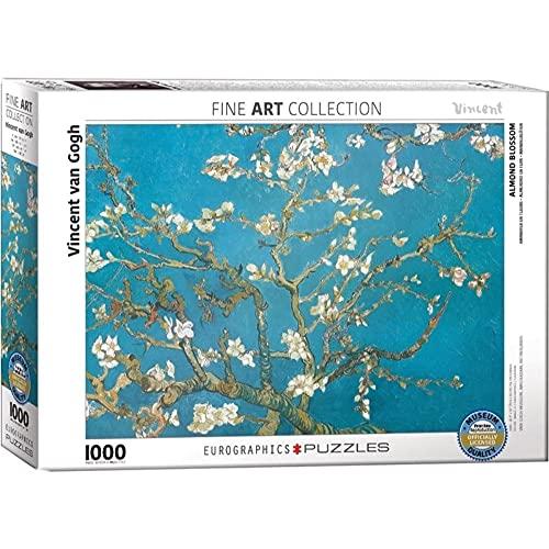 Eurographics Puzzle avec Motif de Branches d'amandiers en Fleurs par Vincent VanGogh (1000pièces)