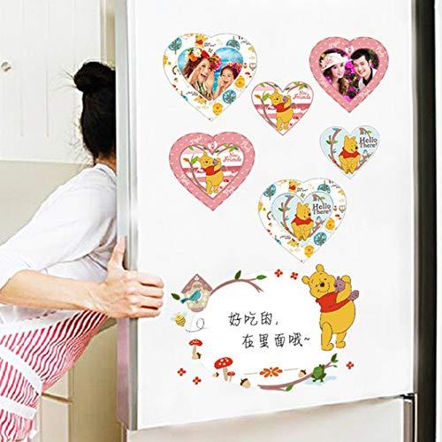 Cartoon Winnie Pooh Home Schlafzimmer Decals Wandaufkleber Für Kinderzimmer Wandtattoos Kindergarten Party Supply Geschenke Poster A4