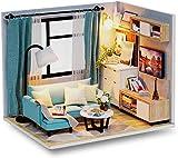 YUACY Puppen Haus Kit,DIY Holzpuppenhaus Mit MöBelzubehöR Puppenhaus, MiniaturmöBelset FüR Familien Und Kinder