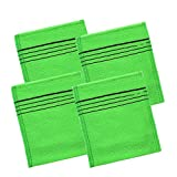 Healthyhome Easy Well 4 Pack of Korean Exfoliating Washcloth, Exfoliating Body Scrub Towel for Removing Dry, Dead Skin Cells, Cleaning Pores and Reducing Acne Breakouts