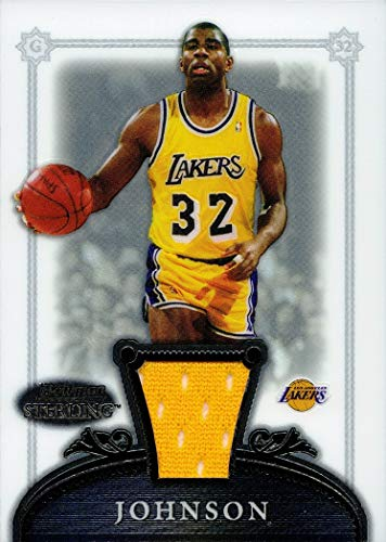 2006-07 Bowman Sterling #29 Magic Johnson Game Worn Lakers Jersey Basketball Card