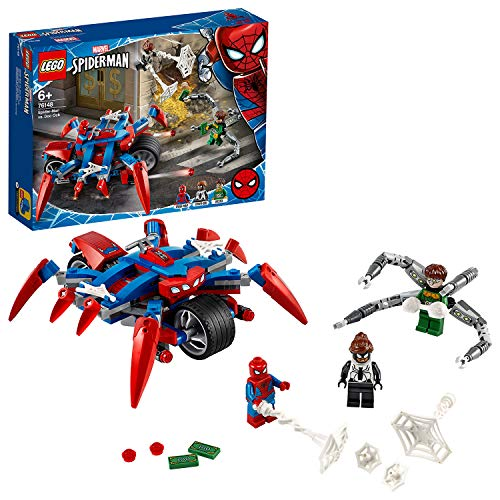 LEGO 76148 Super Heroes Marvel Spider-Man vs. Doc Ock, 2-in-1 Set mit Spider-Girl und Spider-Mans Motorrad