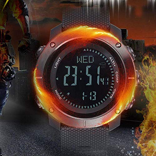DAUERHAFT Reloj Deportivo Barómetro Reloj Multifuncional Digital Inteligente para Exteriores